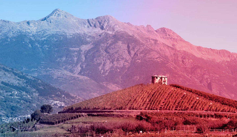 foto della collina di les cretes ad aymavilles