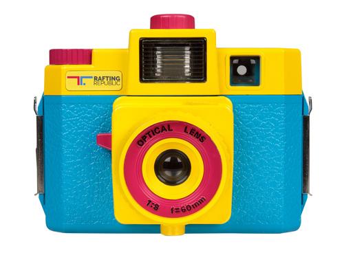 macchina foto di plastica colorata