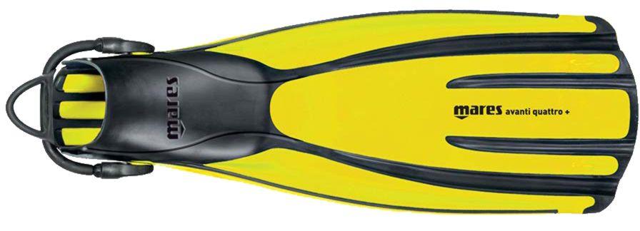foto di una pinna mares gialla