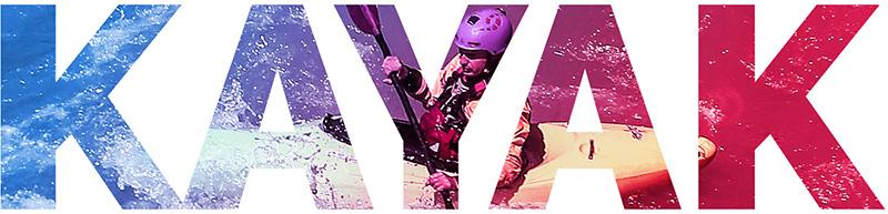 immagine usata come titolo con scritta kayak