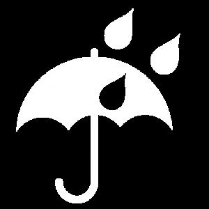 icona ombrello e pioggia