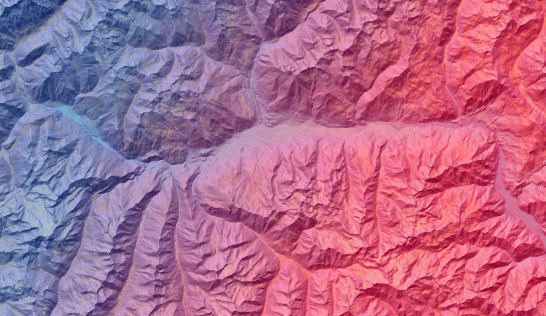 cartina geografica della Valle d'Aosta